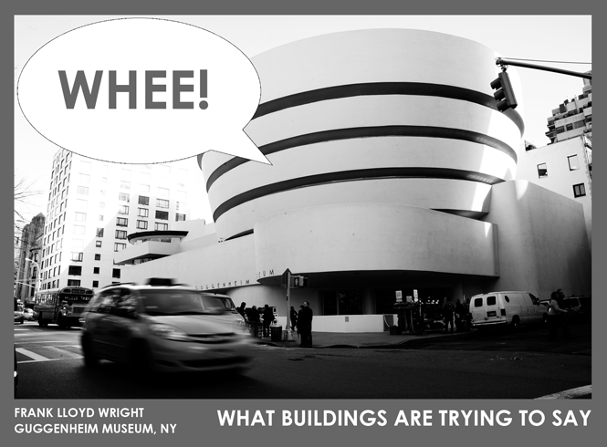 What buildings are trying to say