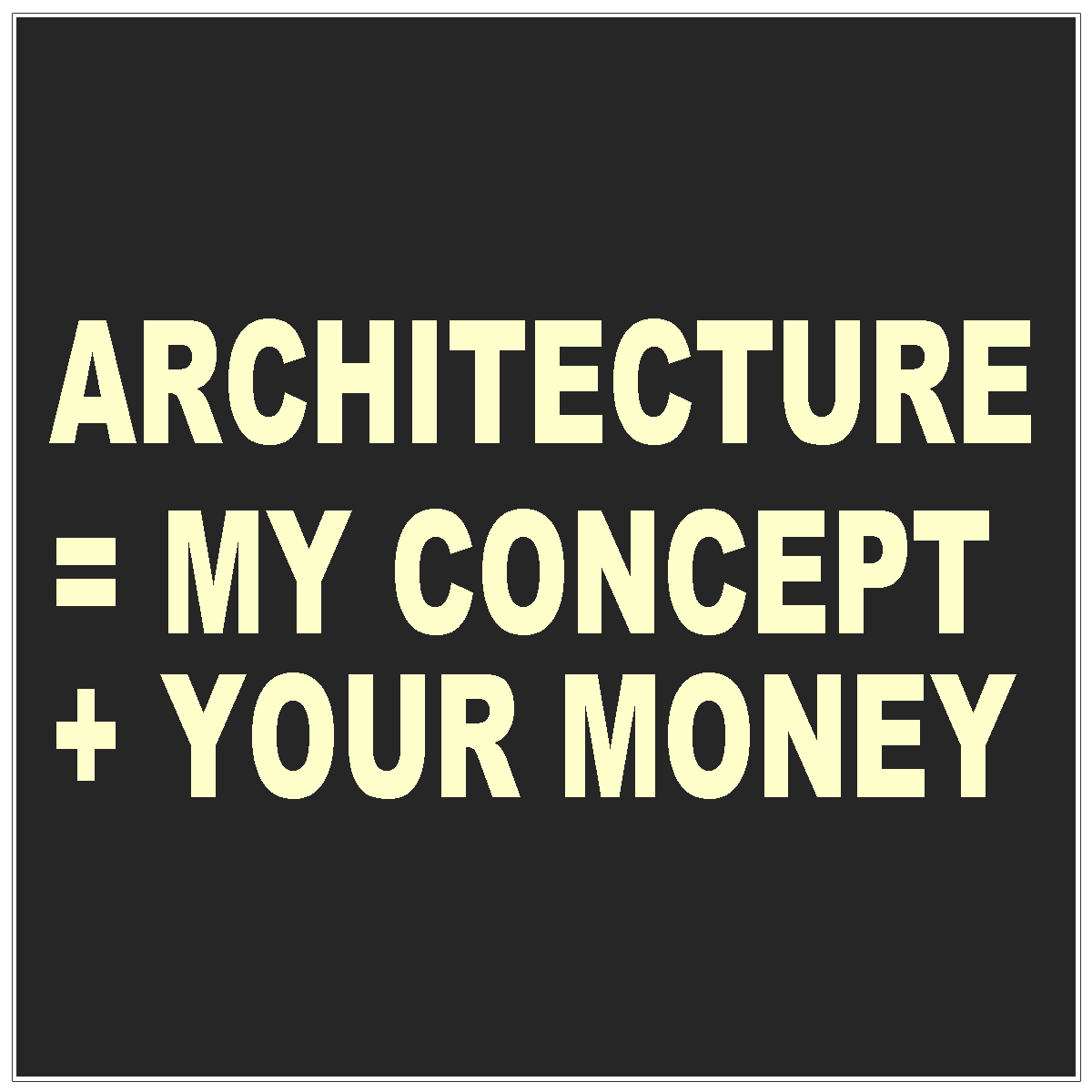 Equations 4 Coffee With An Architect